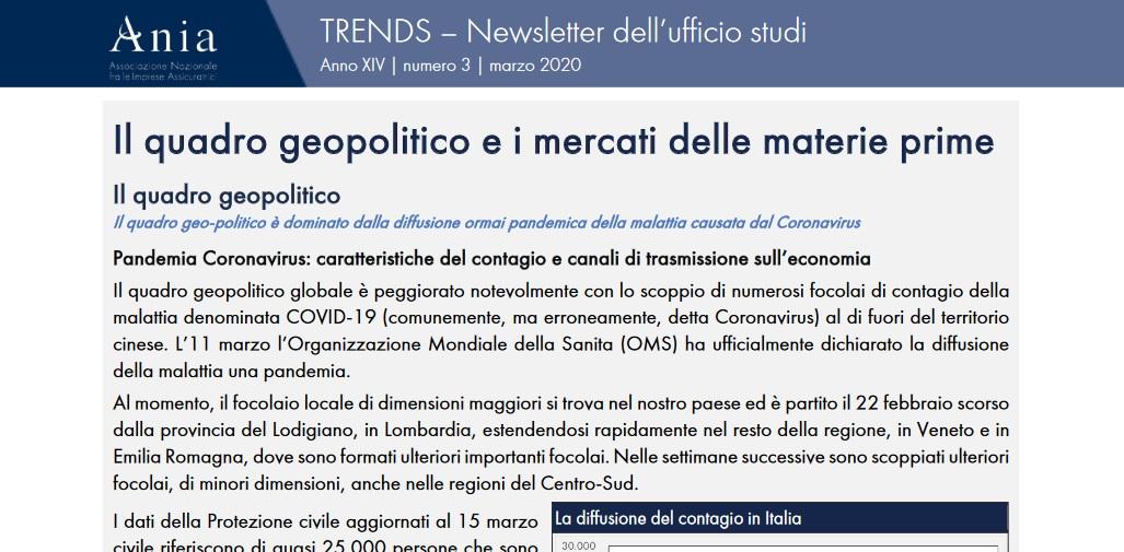 COVID-19: info sul contagio e canali di trasmissione sull'economia